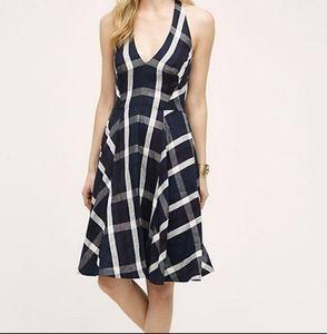 Anthropologie Plaid Halter Dress size 0
